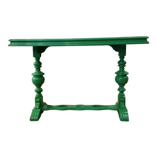 Green Lacquered Table