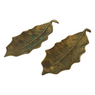 Virginia Metal Crafters Holly Leaves- A Pair