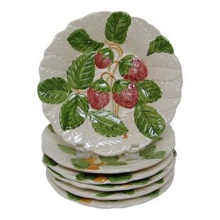 Embossed Porcelain Salad Plates - Set of 6