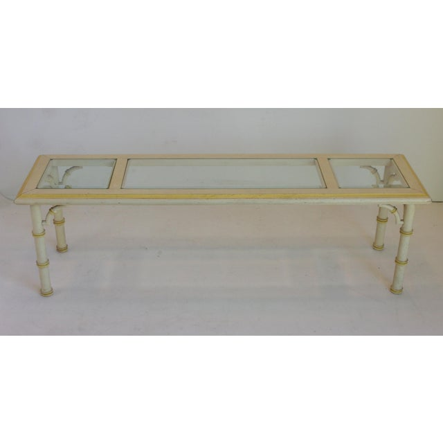 Beach Chic Coffee Table: Vintage Palm Beach Style Cocktail Table