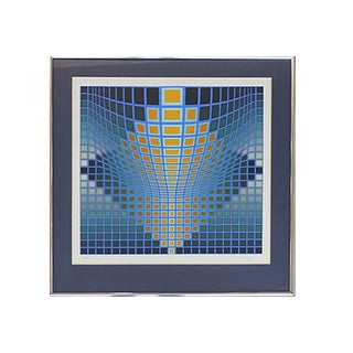 Victor Vasarely Optical Art Lithograph