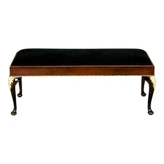 Antique Mahogany Bench With Ormolu Mounts, C.1900
