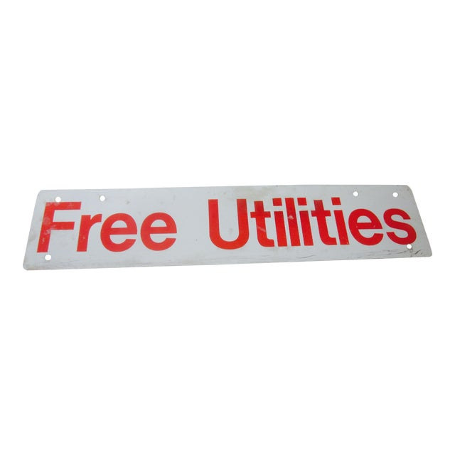 Image of Utilities Included Metal Industrial Salvage Sign