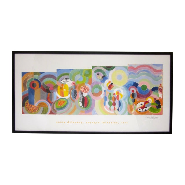 Sonia Delaunay Abstract Geometric Framed Art - Image 1 of 9