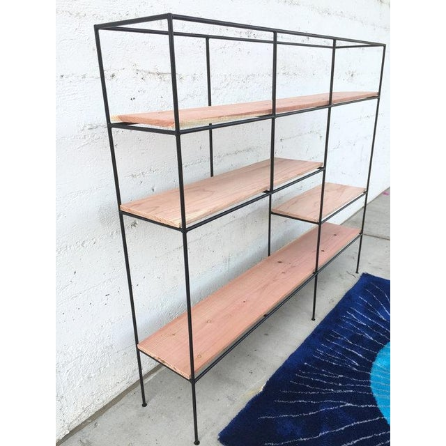 Muriel Coleman Style Steel & Wood Wall Unit - Image 5 of 6