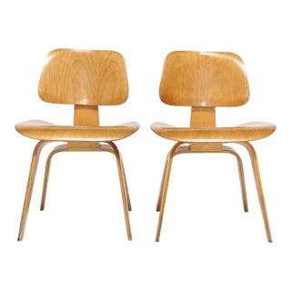 Early Eames DCW Chairs for Herman Miller - A Pair