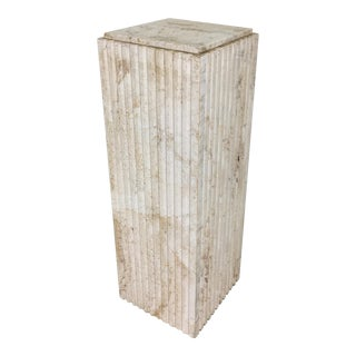 Exquisite Fluted Travertine Column