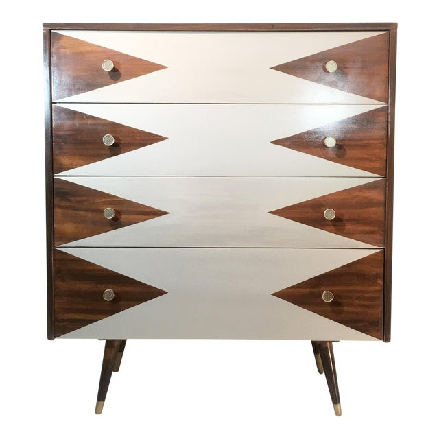 Paul McCobb Mid-Century Modern Geometric Chest - Image 1 of 8