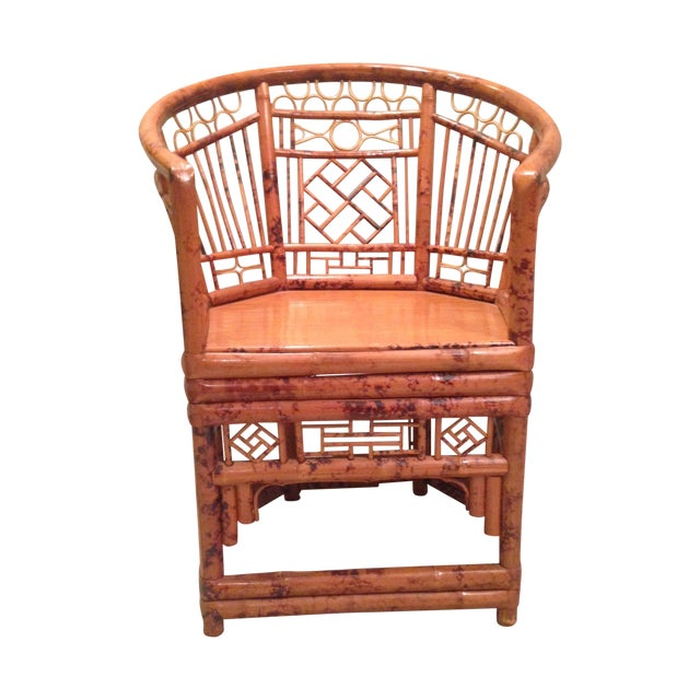 Chinese Chippendale Style Bamboo Chair - Image 1 of 8
