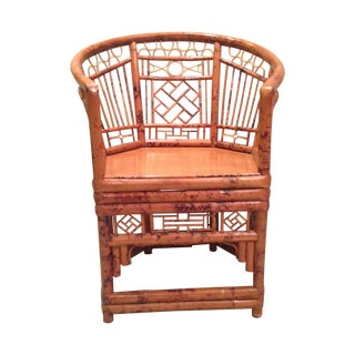 Chinese Chippendale Style Bamboo Chair