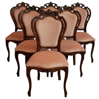 1950s Rococo-Style Dining Chairs - Set of 6