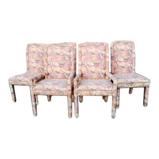Mastercraft Mid-Century Upholstered Parsons Dining Chairs - Set of 6
