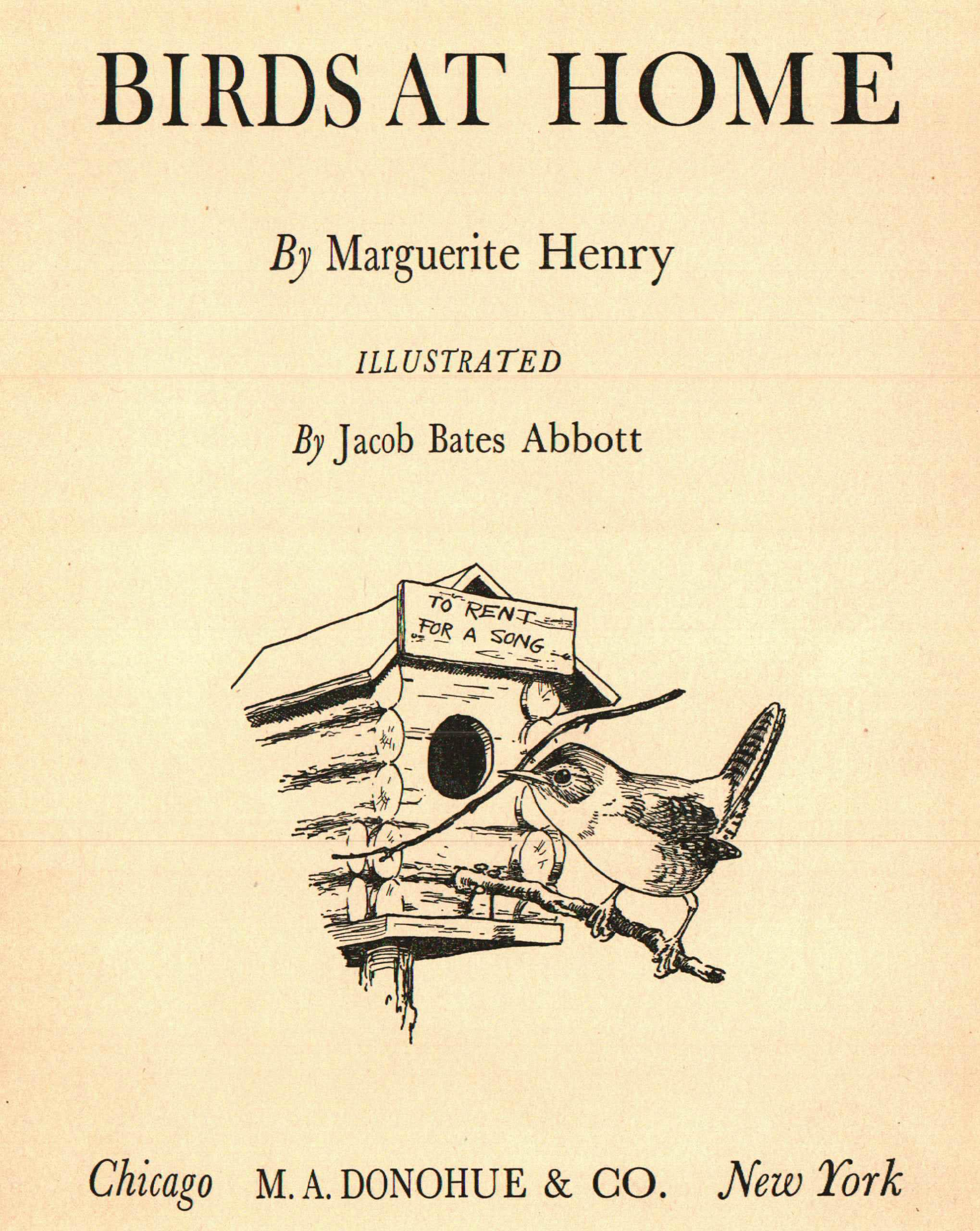 Birds At Home Book By Marguerite Henry Chairish