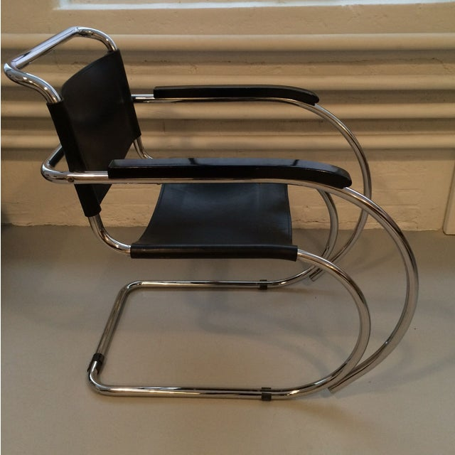 Image of Mies Van Der Rohe Style Chair