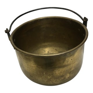 Brass Pail with Iron Handle