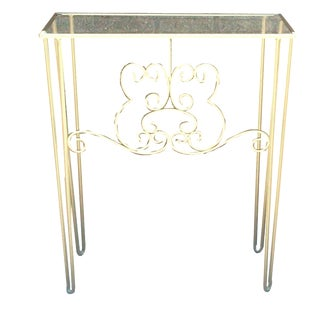 Petite Gilt Iron Hall Table