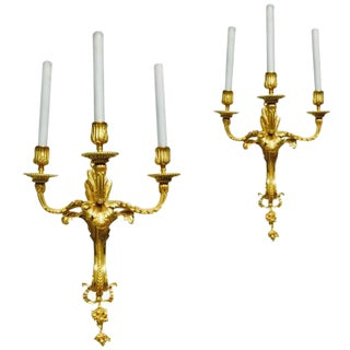 Pair of Ormolu Sconces by Caldwell