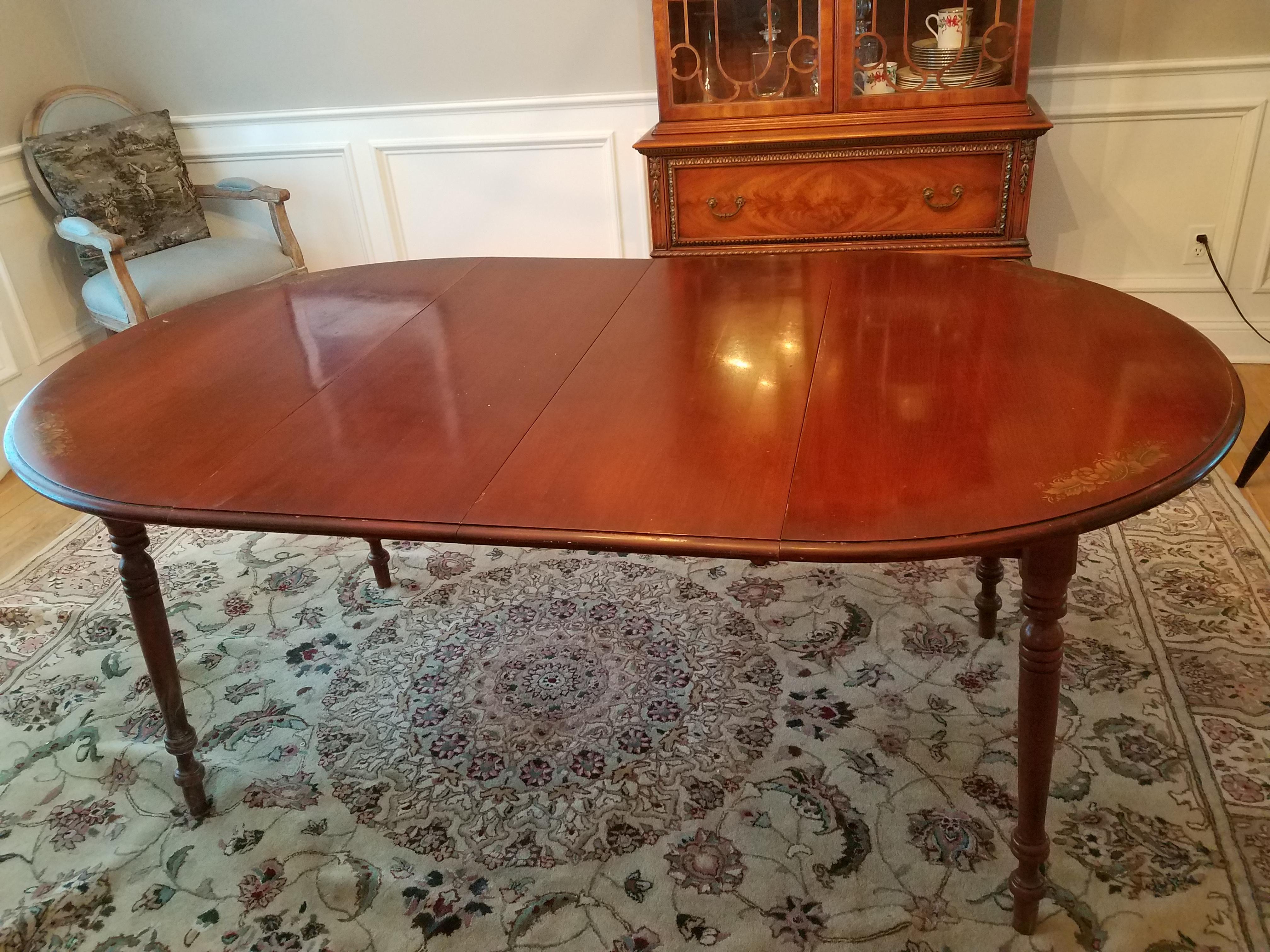 hitchcock furniture vintage cherry dining room set - set of 7