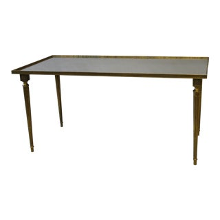Louis XVI Style Brass & Glass Cocktail Table