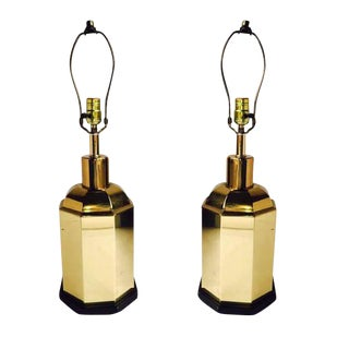 Vintage Modern Chinoiserie Lamps - A Pair