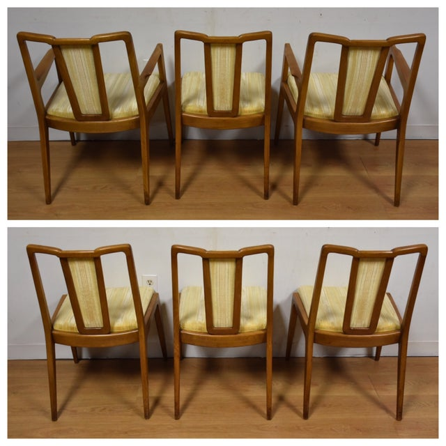 Mt. Airy Sculpted Walnut Dining Chairs - Set of 6 - Image 4 of 11