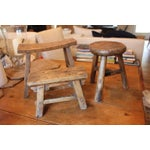 Image of Rustic French Round Stool