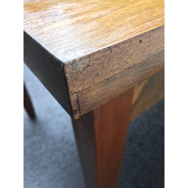 Large Vintage Modern 2-Drawer Desk - Image 10 of 11