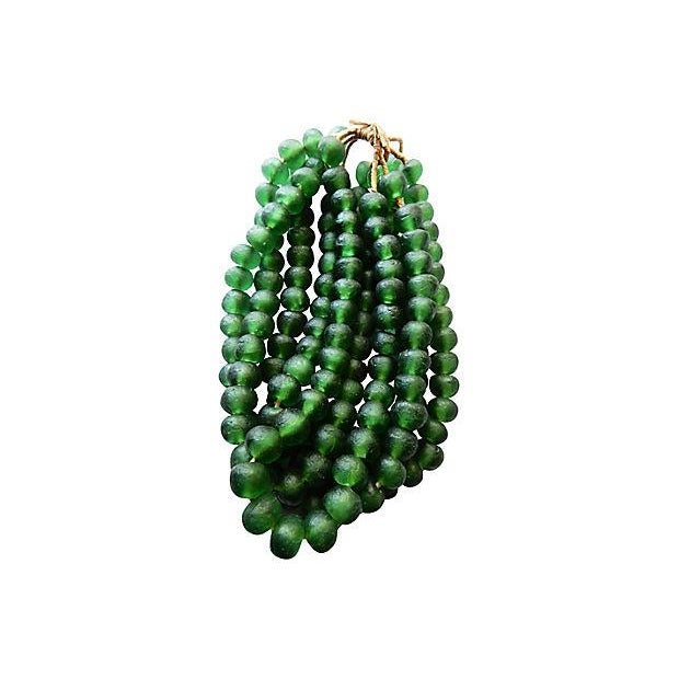 Image of Jumbo Glass Trade Bead Strands - Set of 5