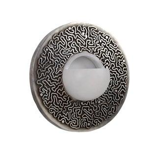 Emile-Jacques Ruhlmann Style Silver Bronze Circular Sconce