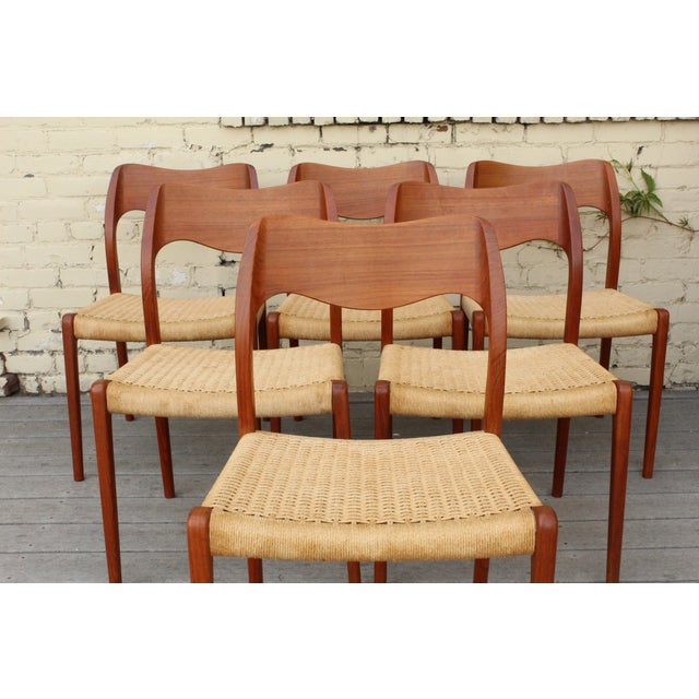 Moller Model 71 Teak Dining Chairs - Set of 6 - Image 9 of 11