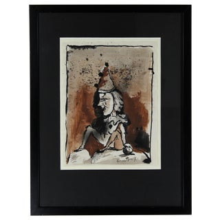 Ink on Paper Drawing by Ronald Searle, Signed