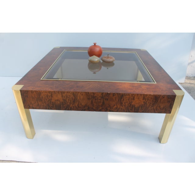 Century Furniture Burl & Brass Coffee Table - Image 4 of 10