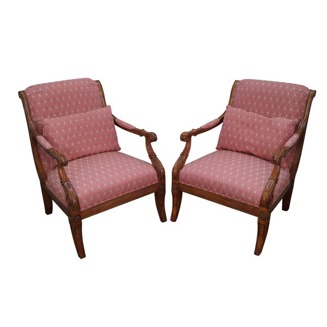 French Empire Regency Arm Chair Fauteuils - Pair - Image 1 of 10