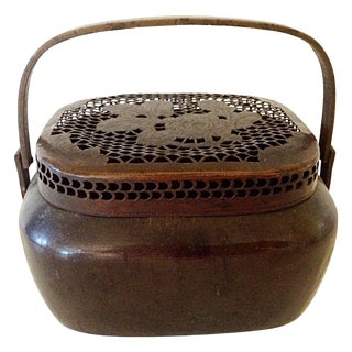 19th Century Chinese Bronze Hand Warmer