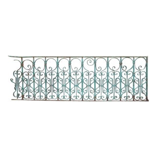 Antique Victorian Iron Garden Fence