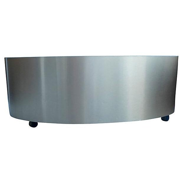 Bean Shape Coffee Table on Casters - Image 4 of 4