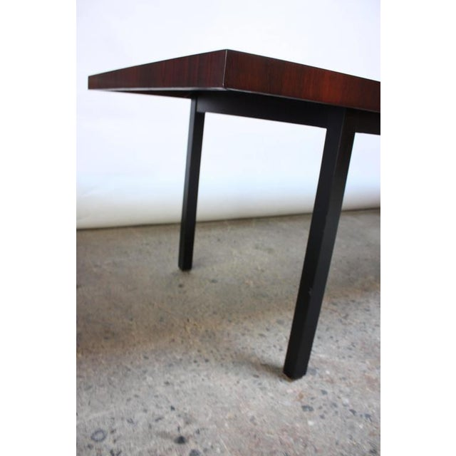 Milo Baughman Mixed Wood Dining Table For Directional - Image 9 of 11