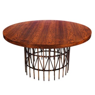 CENTER TABLE IN ROSEWOOD AND BRONZE BY MILO BAUGHMAN