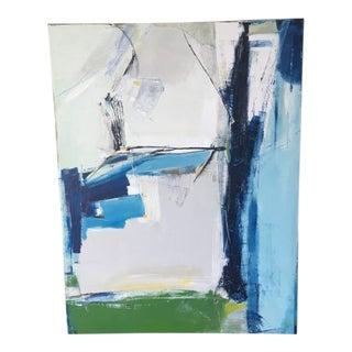 Contemporary Sapphire Painting