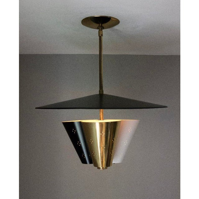 Mid-Century Tricone Reflector Lightolier Fixture - Image 2 of 4