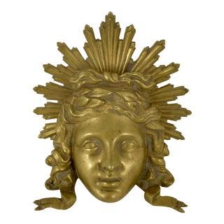 French Ormolu Louis XVI Fragment, The Sun King Head
