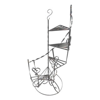 Wrought Iron Stair Step Plant Stand