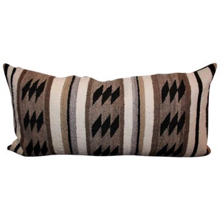 Early Navajo Indian Weaving Bolster Pillow
