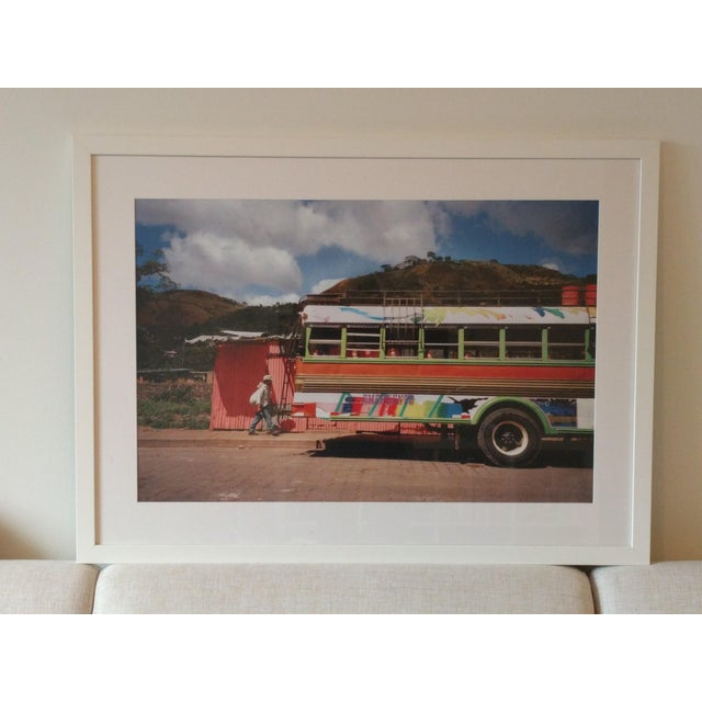 Framed Nicaraguan Painted Bus Photograph - Image 2 of 4