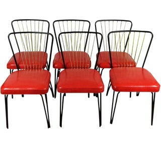 Lloyd Heywood Wakefield Dinette Chairs - Set of 6