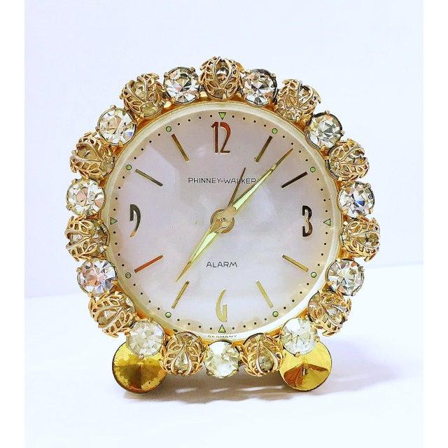 1930s Vintage Phinney-Walker Bejeweled Alarm Clock - Image 2 of 8