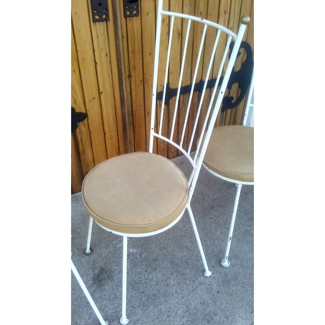 Mid-Century McCobb Style Wrought Iron Chairs - Set of 4 - Image 5 of 8
