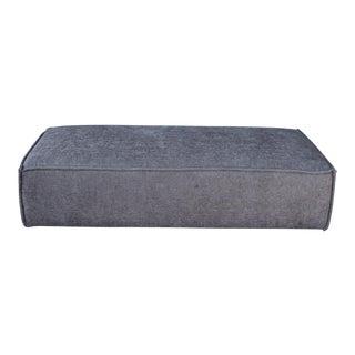 Modern Upholstered Gray Ottoman