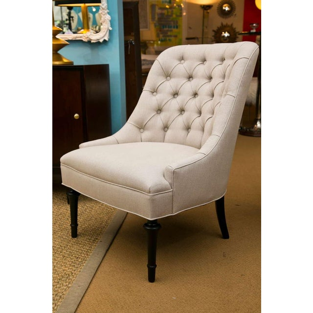 Mid-Century Slipper Chairs, Pair - Image 4 of 8