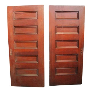 Five Panel Doors - A Pair